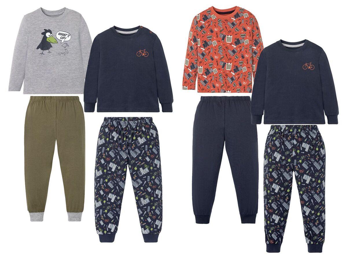 Bild 1 von LUPILU® Kleinkinder Schlafanzug Jungen, 2 Stück, mit Print, aus Singel-Jersey-Qualität