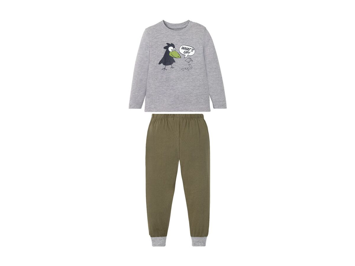 Bild 3 von LUPILU® Kleinkinder Schlafanzug Jungen, 2 Stück, mit Print, aus Singel-Jersey-Qualität