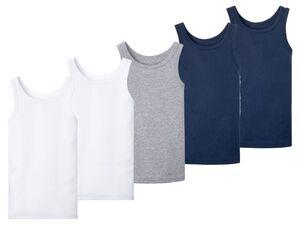 PEPPERTS® Unterhemd Jungen, 5 Stück, aus reiner Baumwolle