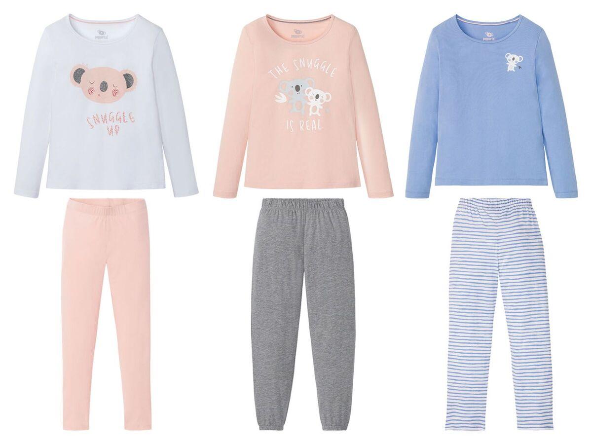 Bild 1 von PEPPERTS® Kinder Pyjama Mädchen, Shirt mit niedlichem Print, mit Baumwolle