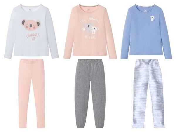 PEPPERTS® Kinder Pyjama Mädchen, Shirt mit niedlichem Print, mit Baumwolle