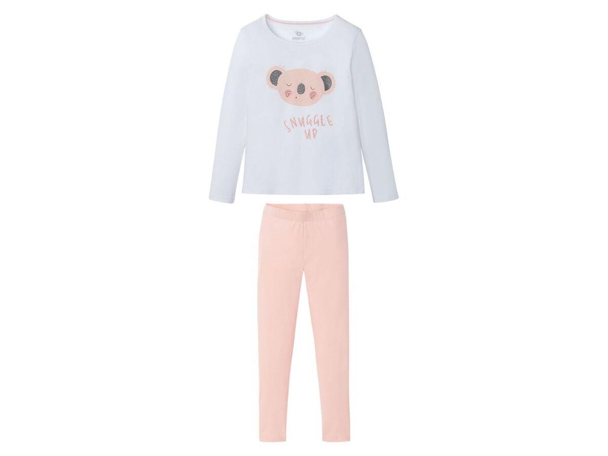 Bild 2 von PEPPERTS® Kinder Pyjama Mädchen, Shirt mit niedlichem Print, mit Baumwolle