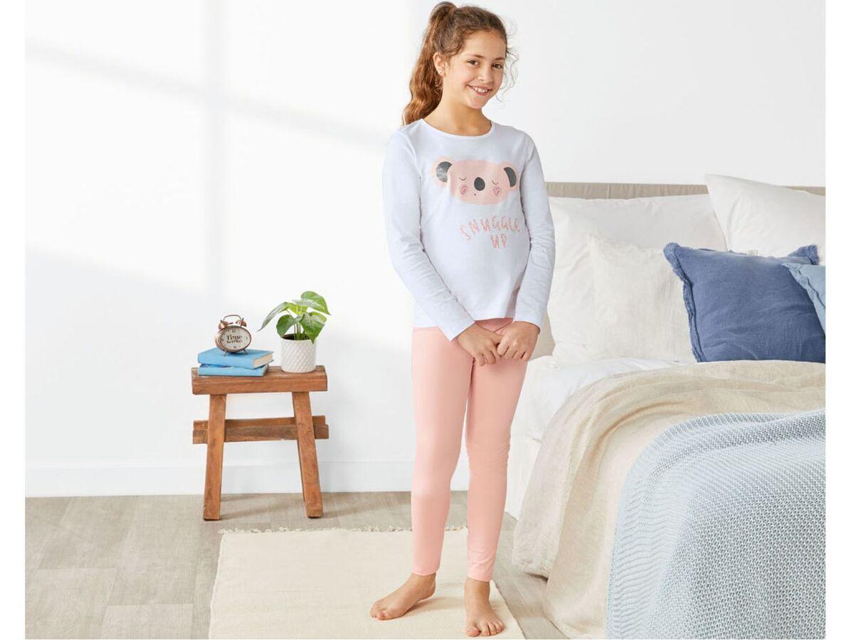Bild 3 von PEPPERTS® Kinder Pyjama Mädchen, Shirt mit niedlichem Print, mit Baumwolle
