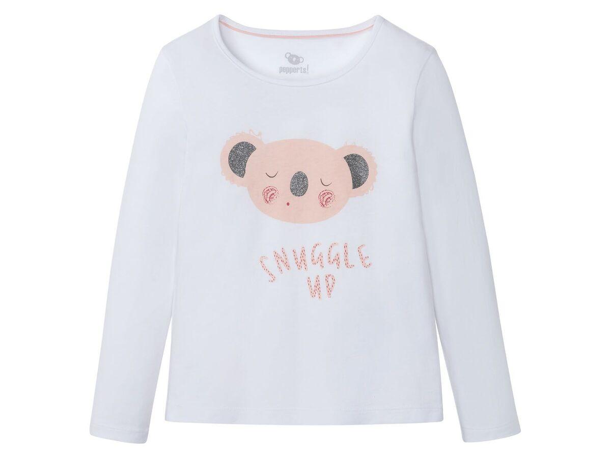 Bild 4 von PEPPERTS® Kinder Pyjama Mädchen, Shirt mit niedlichem Print, mit Baumwolle