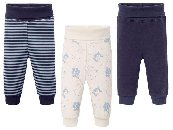 LUPILU® Baby Schlupfhosen Jungen, 3 Stück, mit Baumwolle