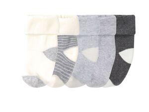 LUPILU® Baby Thermosocken Jungen, 5 Paar, Umschlagbund