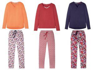 ESMARA® Pyjama Damen, Hose mit Bindeband, Taschen, aus Viskose und Elasthan