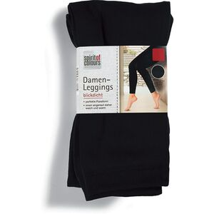 Spirit of Colours Damen Leggings - Schwarz glatt, Gr. S/M