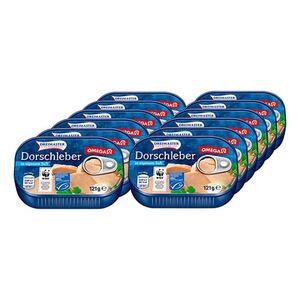 Dreimaster Dorschleber 121 g, 12er Pack
