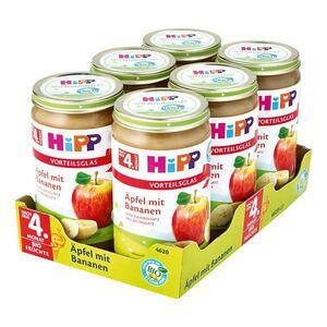 HiPP Bio Frucht Apfel mit Bananen 250 g, 6er Pack