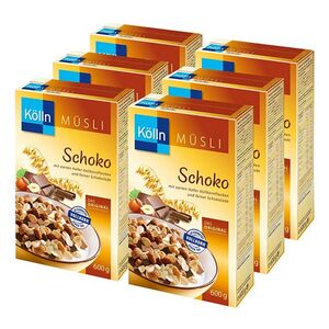 Kölln Schoko Müsli 600 g, 6er Pack