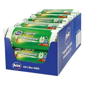 Priva Bio Folienmüllbeutel 15 x 15 Liter, 18er Pack