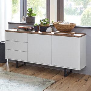 Sideboard, weiß, fichtefarben