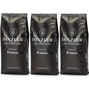 Dinzler Kaffeerösterei Il Gustoso Espressobohnen 3kg (3 x 1kg)