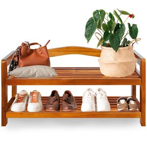 Deuba Schuhregal Schuhständer Holz Akazie 2 Etagen
