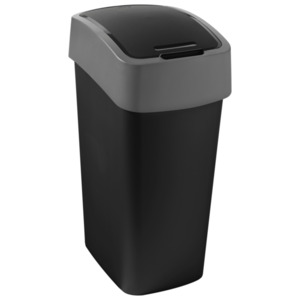 Curver Flip Bin Mülleimer 50L schwarz/grau