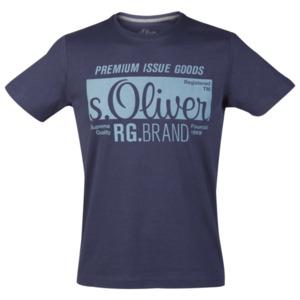 S.Oliver Logoshirt Größe M in Midnight Blau