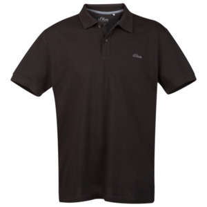 S.Oliver Poloshirt Größe XL in Schwarz
