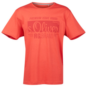 S.Oliver Logoshirt Größe XL in Rot