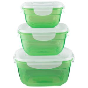 Lock&Lock Frischhaltedosen Grün 3er Set limegrün