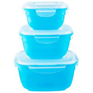 Lock&Lock Frischhaltedosen Blau 3er Set ozeanblau