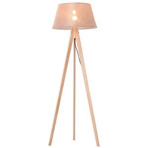 Homcom Tripod-Stehlampe natur/beige