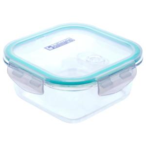 Steuber Frischhaltedose Glas quadratisch mit Mikrowellendeckel 800ml transparent