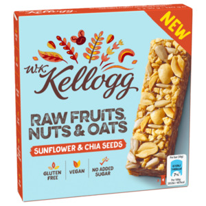 W. K. Kellogg Bar Raw Fruits, Nuts & Oats Sunflower & Chia Seeds 4x30g