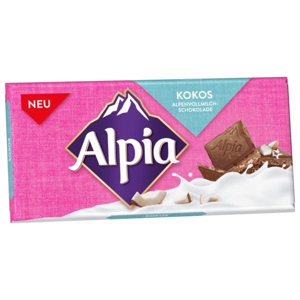 Alpia Kokos Alpenvollmilchschokolade 100g