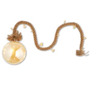 LED-Glaskugel mit Kordel
