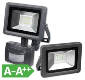LED-Strahler mit und ohne Bewegungsmelder