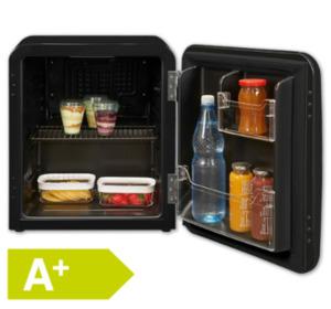 EXQUISIT Mini-Retro-Kühlschrank RKB04-14A+