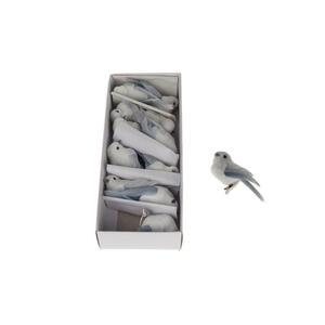 XXXLutz Dekovogelset grau, weiß , 79799311 , Vogel , 2x2x5 cm , 008881029603