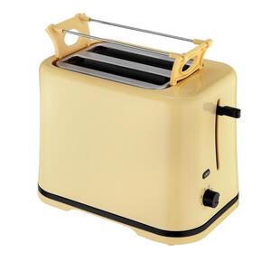 XXXLutz Toaster , Toaster SC TO 1080 V  *mb* , Hellgelb , Kunststoff , 20.2x25x14.6 cm , Krümelschublade, Brötchenaufsatz, wärmeisoliertes Gehäuse , 006619004901