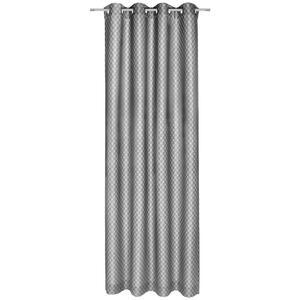 Joop! Ösenschal blickdicht 140/250 cm , J-Allovers 70029-011 , Grau , Textil , Raute , 140x250 cm , 003021006807