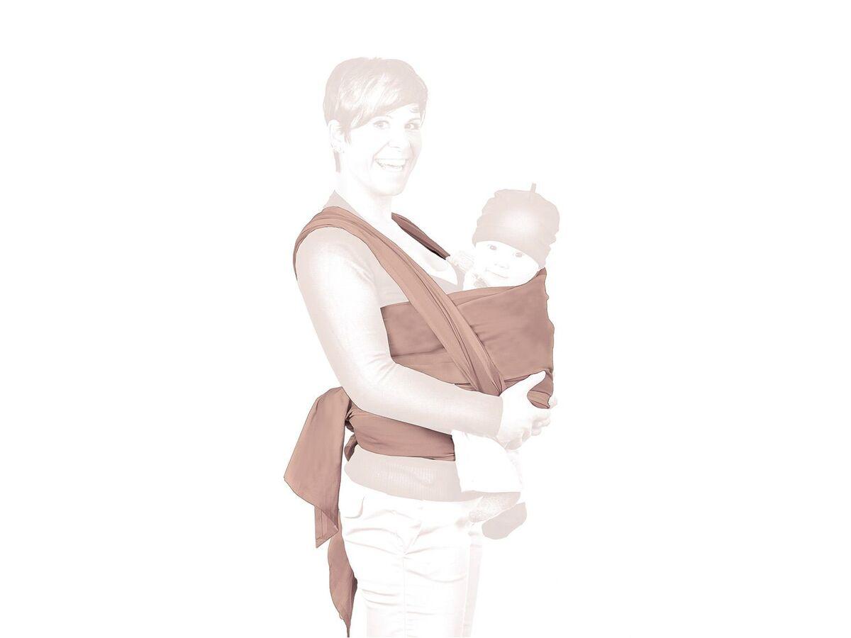 Bild 2 von LUPILU® Tragetuch Baby, mit schrägen Enden zum einfacheren Knoten, aus reiner Bio-Baumwolle