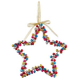 X-Mas Christbaumanhänger multicolor , 385093 , Metall , Stern , glänzend , 003754398001