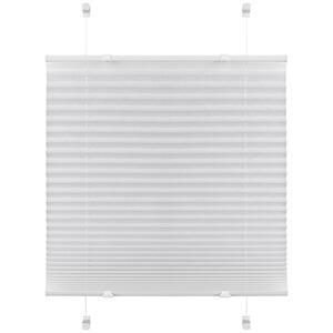 Boxxx PLISSEE halbtransparent 80/130 cm , 67525-005 Plissee Base , Weiß , Textil , Uni , 80x130 cm , Länge universell einstellbar , 006935030301