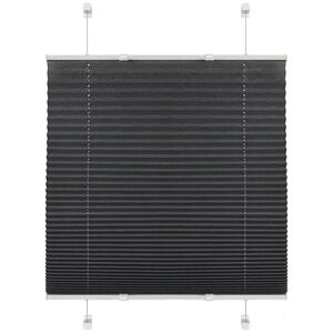 Boxxx PLISSEE halbtransparent 80/130 cm , 67531-005 Plissee Base , Hellgrau , Textil , Uni , 80x130 cm , Länge universell einstellbar , 006935030302