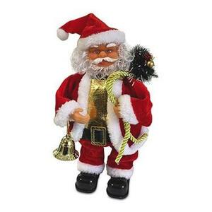 XXXLutz Weihnachtsmann rot, goldfarben , 81500 , Kunststoff , Weihnachtsmann , 11x10x27 cm , 005559001701