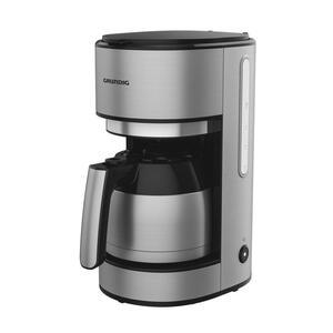 Grundig Filterkaffeemaschine , Km5620T Kaffeemaschine Grundig , Schwarz, Edelstahlfarben , Metall , 1 L , 22.4x36.8x22.9 cm , Warmhalteplatte, automatische Endabschaltung, Tropf-Stopp-Funktion, Therm