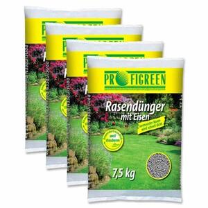 Rasendünger mit Eisen 30 kg (4 x 7,5 kg)