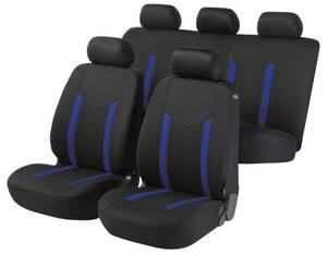 "Auto Komplett-Sitzbezug ""Hastings"" - Zipp it, Farbe schwarz/blau Walser"