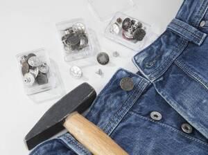 Jeansknöpfe, 24 Stück