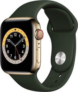 Watch Series 6 (40mm) GPS+4G mit Sportarmband gold/zyperngrün