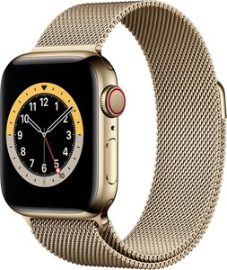Watch Series 6 (40mm) GPS+4G mit Milanaise-Armband gold