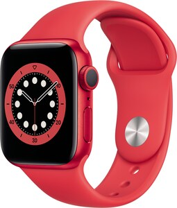 Watch Series 6 (40mm) GPS (PRODUCT)RED mit Sportarmband rot
