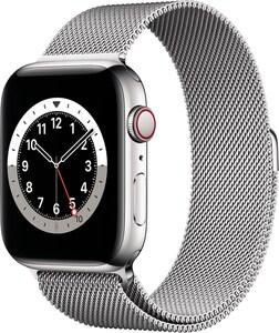 Watch Series 6 (44mm) GPS+4G mit Milanaise-Armband silber