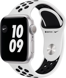 Watch Nike (40mm) GPS mit Nike Sportarmband silber/pure platinum/schwarz