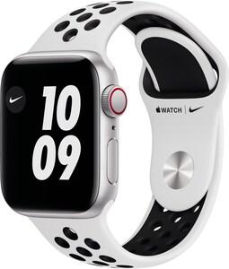 Watch Nike SE (40mm) GPS+4G mit Nike Sportarmband silber/pure platinum/schwarz